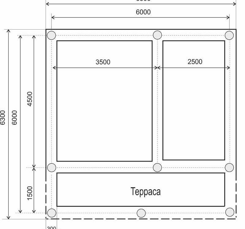 Проект фундамента деревянного дома 6 на 4.5 метра