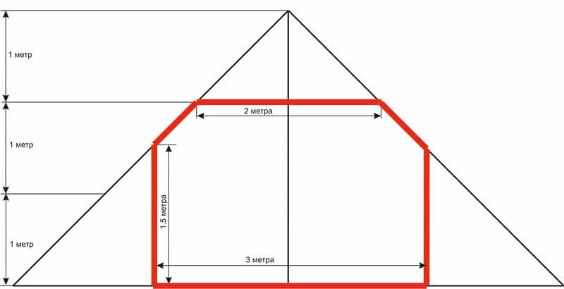 Дом-баня 6м*6м, 2-х скатная крыша, мансарда