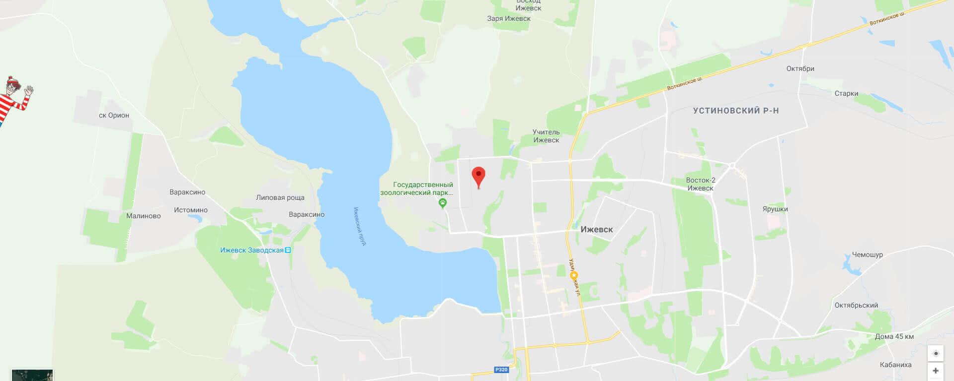 Карта Ижевска